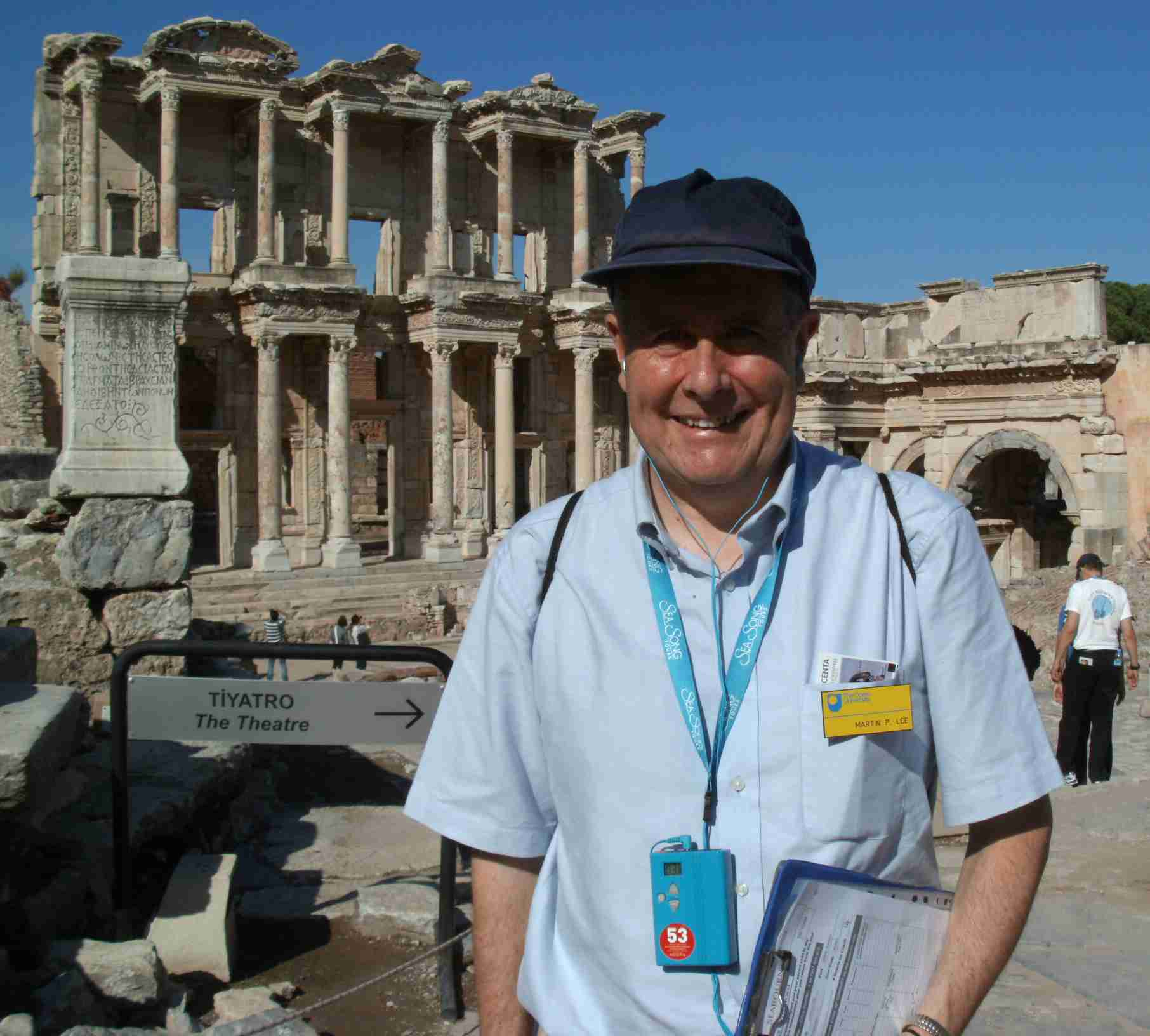 Me in front of the Celsus Library at Ephesus