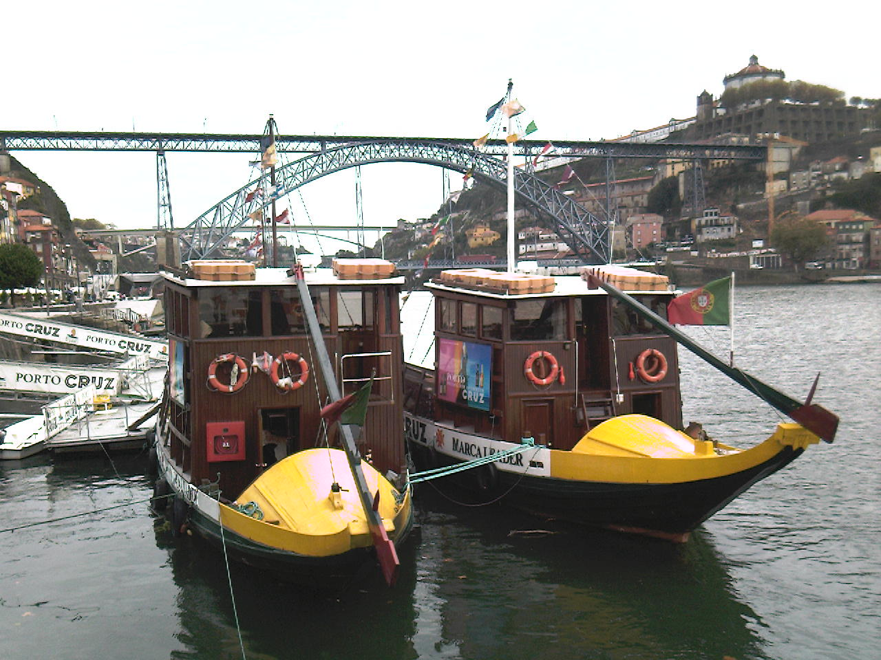 Port barges in Oporto