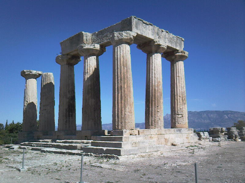 The temple at Corinth, Greece