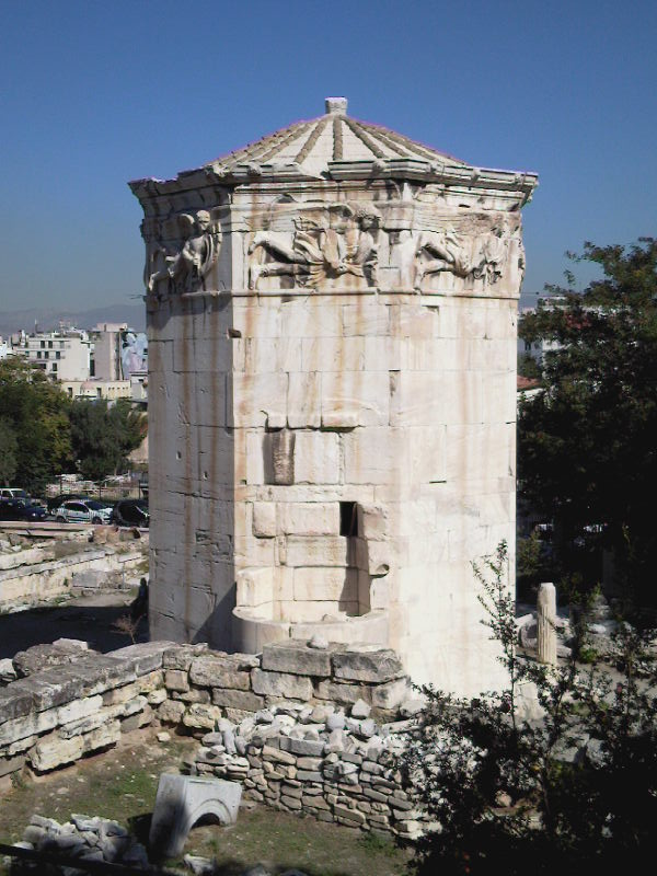 The temple of the winds in Athens, Greece