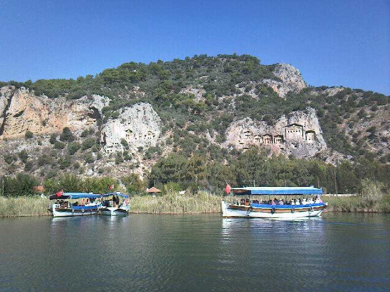 The Lycean tombs, Dalyan, Turkey