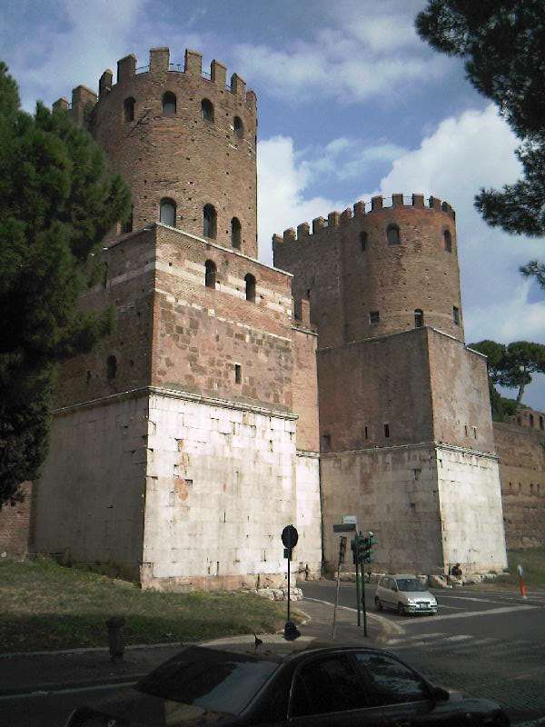 The gate on the Appian Way, Rome