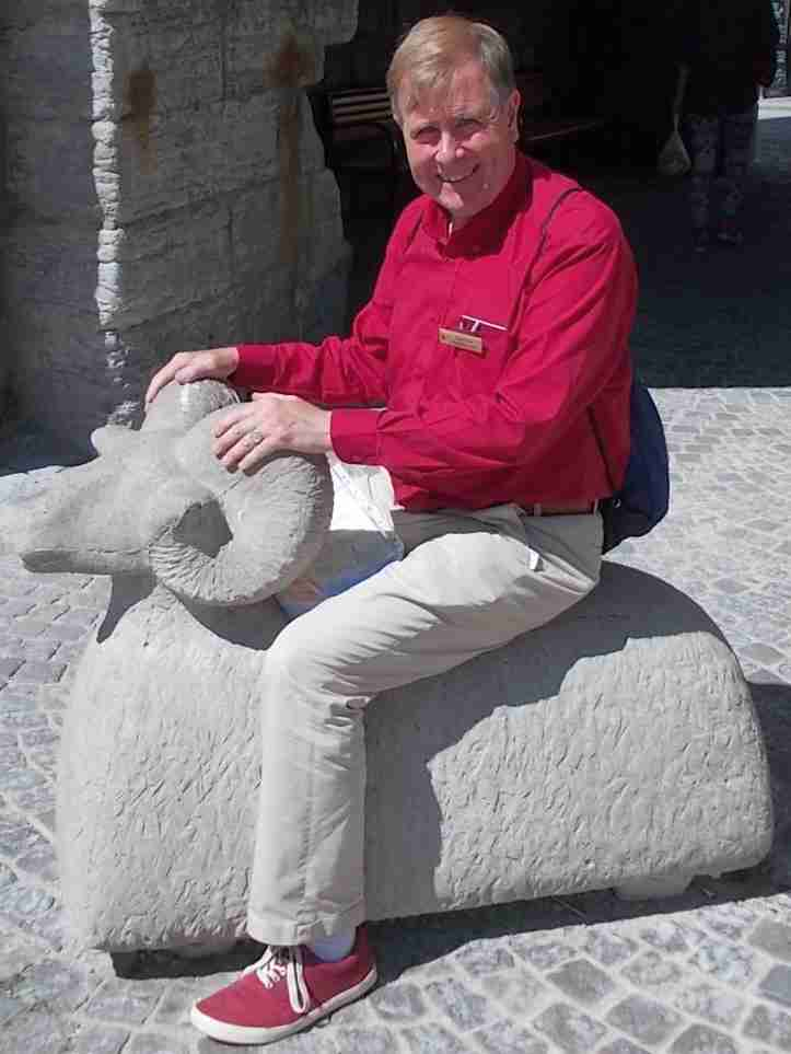 Me in Visby, photograph taken by Dr. Brian Dunn