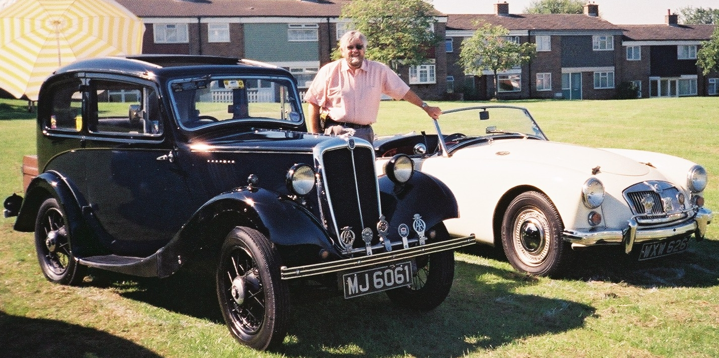 My brother, David Lee from Harlow, Essex with 2 of his classic cars