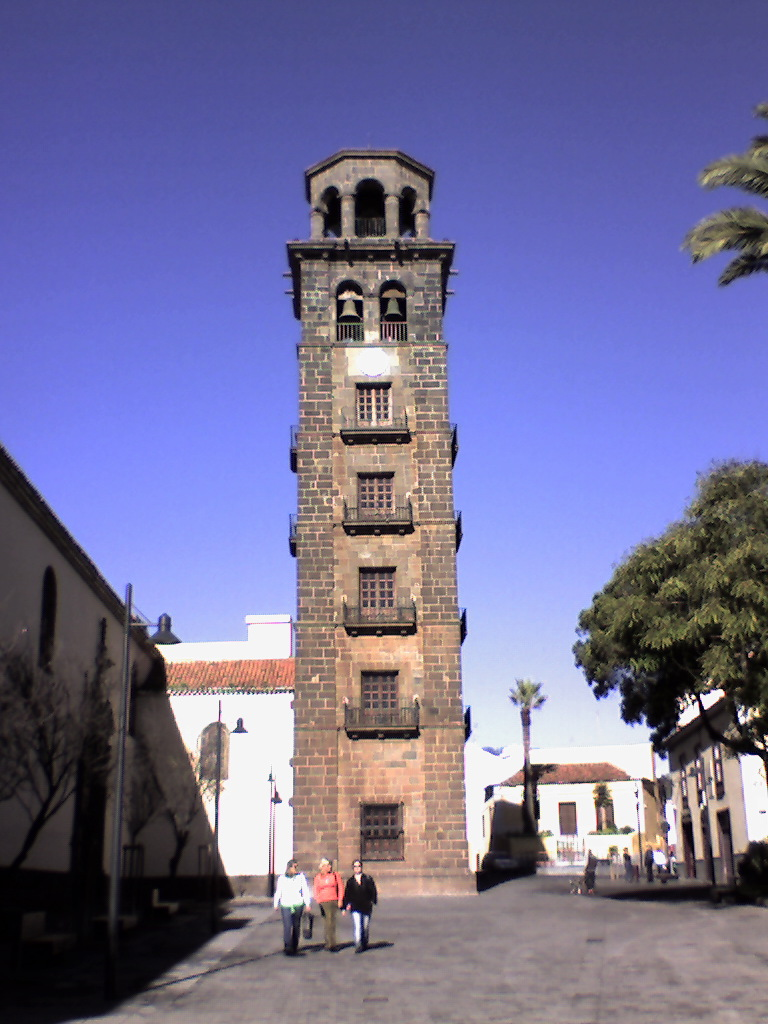 Clock tower in San Cristobal de la Laguna, Tenerife