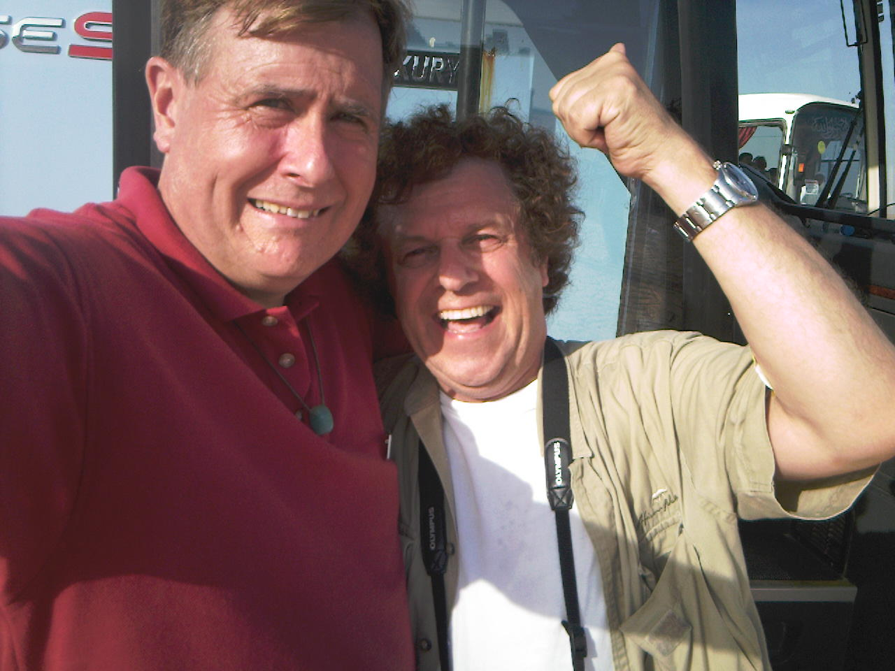 Self portrait with Leo Sayer in Salalah, Oman