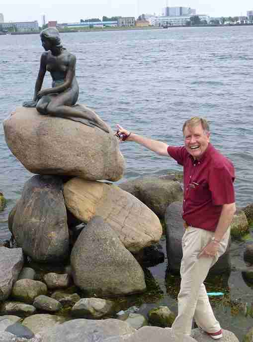 The little mermaid statue in Copenhagen photo taken by Jon Horrrocks